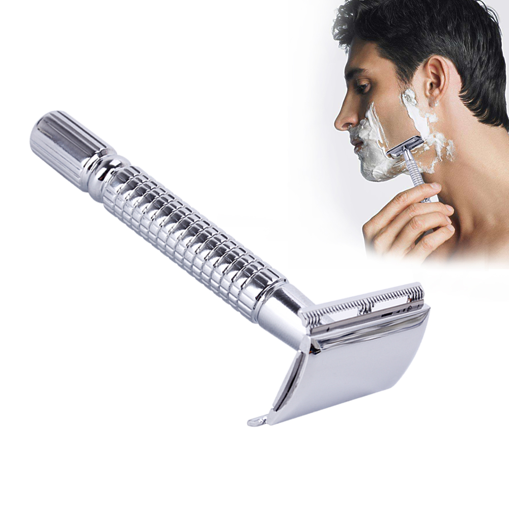 Safety Double Edge Razor For Men Barber Straight Razor Men's Adjustable Shaving Face Razor Blades Shaving Machine