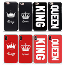 Quotes king Queen love Pink Red black phone Case For huawei P20 P30 mate 10 lite p8 P9 P10 Lite honor 10 Soft TPU Silicone Cover(China)
