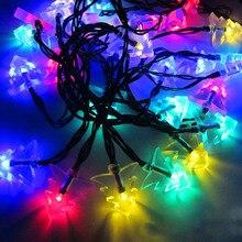 Decorative Light  Waterproof 4.8M 20LEDs Solar Powered Chrismas Tree String Light for Xmas Party