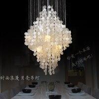 modern natural shell pendant lighting dining room bedroom romantic hanging lamp
