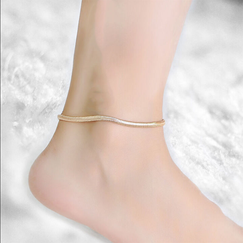 Hot-New-One-Pcs-Gold-Silver-Snake-Chain-Anklet-Bracelet-Fine-scale-Anklet-Chain-Sexy-Foot