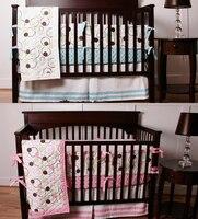 8 Pc Bedroom Newborn Baby Crib Bedding Set For Girls Circle Pink Quality Infant Cot Nursery