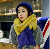 2014 New Scarves Free Shipping Patchwork Muslim Hijab British Style Autumn And Winter Long Knitting Thicken