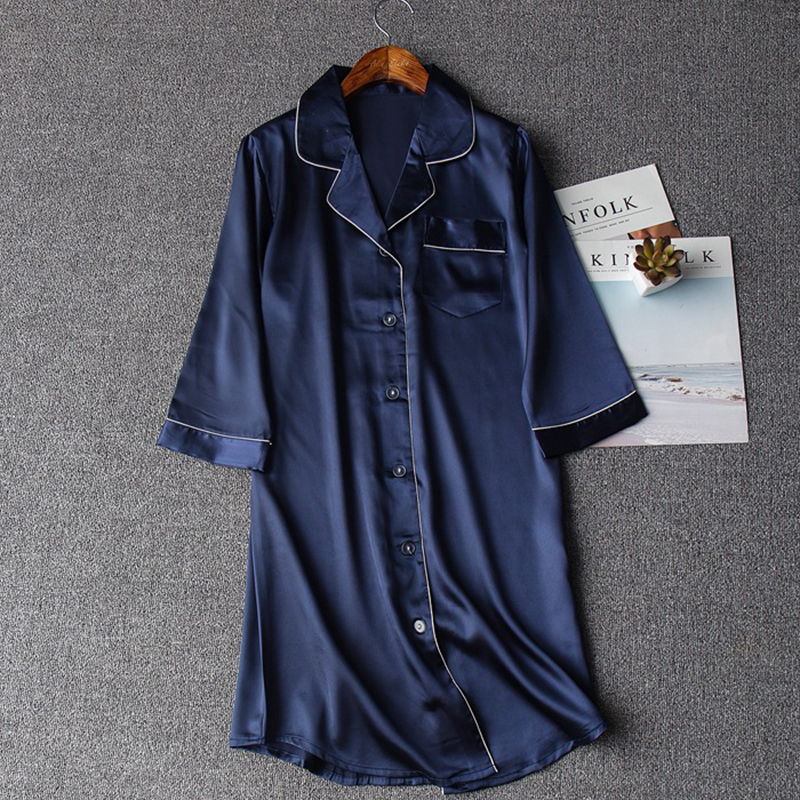 Summer New Sexy Lady Nightshirt Nightdress Women Lounge Robes Casual Nightgown Chinese Style Sleepwear Sleepshirt M L XL XXL