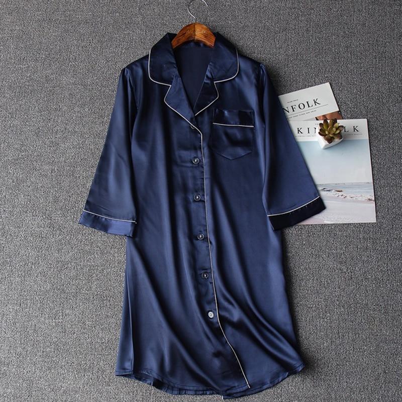 Summer New Sexy Lady Nightshirt Nightdress Women Lounge Robes Casual Nightgown Chinese Style Sleepwear Sleepshirt M L XL XXL