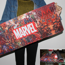 New High Quality Large Rubber Speed Game Mousepad Marvel Comics Custom Design Big Best Comfort Superheroes Collage