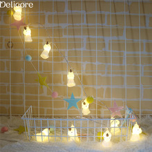 Фотография DELICORE 1.65M Unicorn LED String Fairy Light Outdoor Holiday Light For Party Christmas Room Decoration With Battery S195