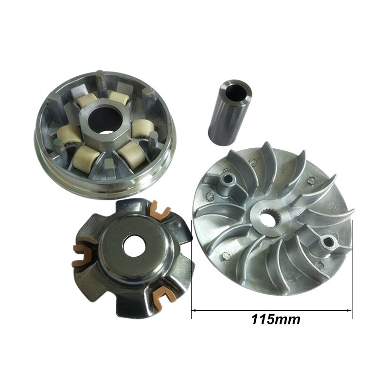 Motorcycle Enhanced Drive Face Clutch Pulley Variator Assembly For GY6-125 GY6-150 152QMI 157QMJ Scooter Moped Dirt Bike TaoTao performance oil radiator adapter fittings for 4 stroke chinese scooter gy6 50 80 100 125 150 139qmb 152qmi 157qmj
