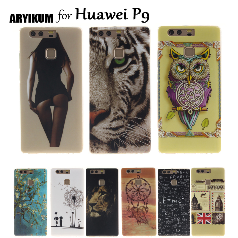 ARYIKUM Silicon Case For etui Huawei P9 P 9 eva-l09 eva-l19 Case Mobile
