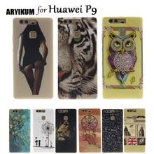 ARYIKUM Silicon Case For etui Huawei P9 P 9 eva-l09 eva-l19