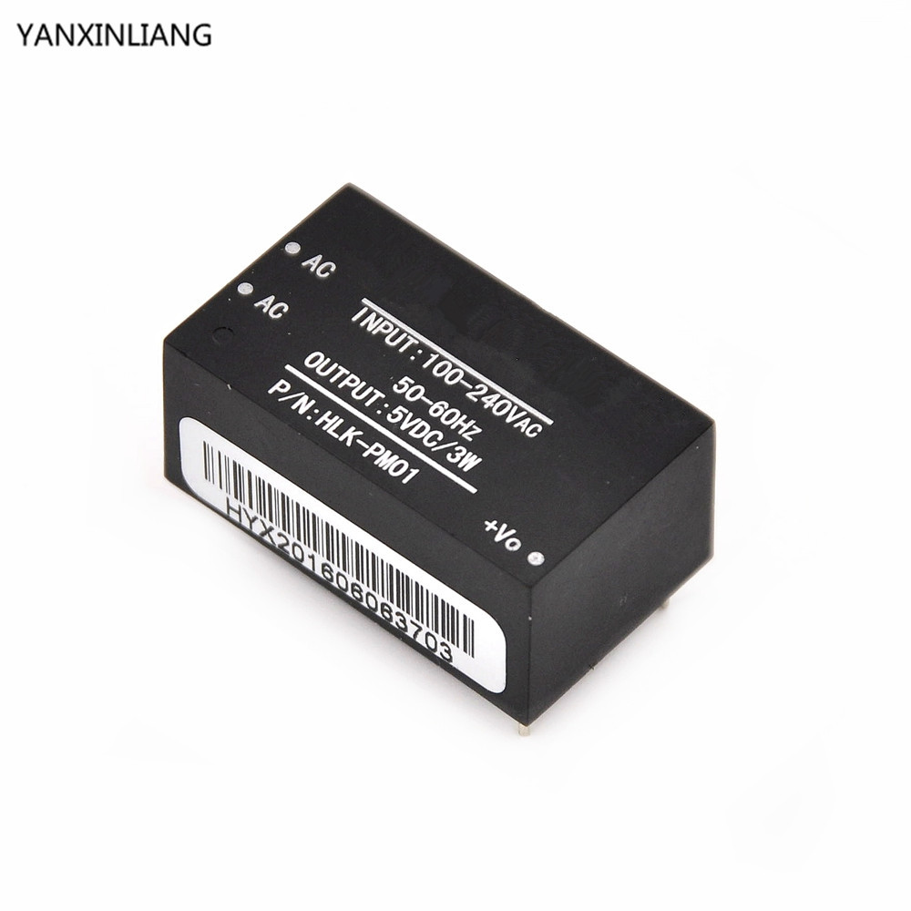 1pcs HLK-PM01 AC-DC 220V To 5V Mini Power Supply Module,intelligent Household Switch Power Supply Module