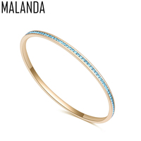 MALANDA Brand Luxury Jewelry Crystal From Swarovski Bracelets Fashion Style Bracelet Bangles For Women Wedding Accessories