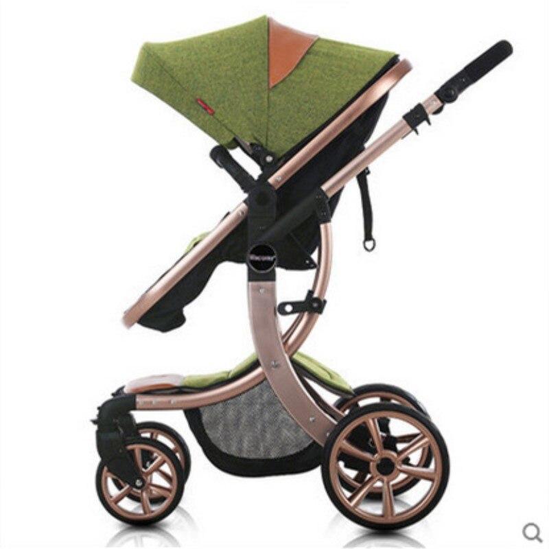Two way Pushing Baby Stroller 2 in 1 High Landscape Pram ...