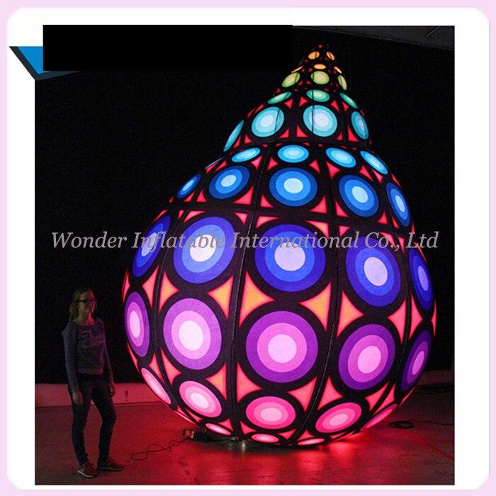 Nouveau coquillage gonflable coloré de coquille gonflable imprimée géante avec la lumière LED pour la décoration de partie