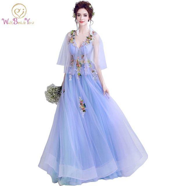 Walk Beside You vestido formatura Prom Dresses Lavender with Flowers ...