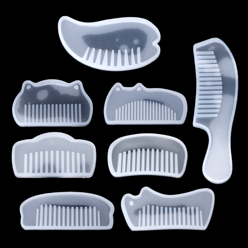 3D Transparent UV Resin Silicone Comb Mold Epoxy Resin Molds For DIY Jewelry Making Tools Resin Moldes Selicone Chrismas Gifts