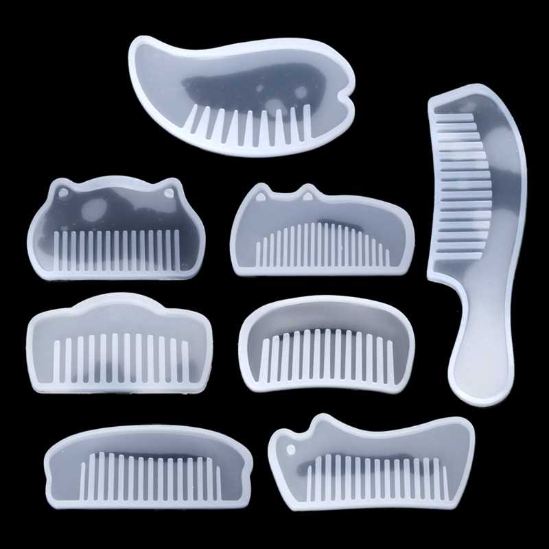 3D 透明 UV 樹脂シリコーン櫛型エポキシ樹脂金型 Diy のジュエリー作成ツール樹脂 moldes selicone Chrismas のギフト