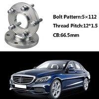 2pcs 5x112 66.5CB Centric Wheel Spacer Hubs M12*1.5 Bolts For Benz C Class W202 W203 SLK R170/171 A Class W168 E Class W210 W214