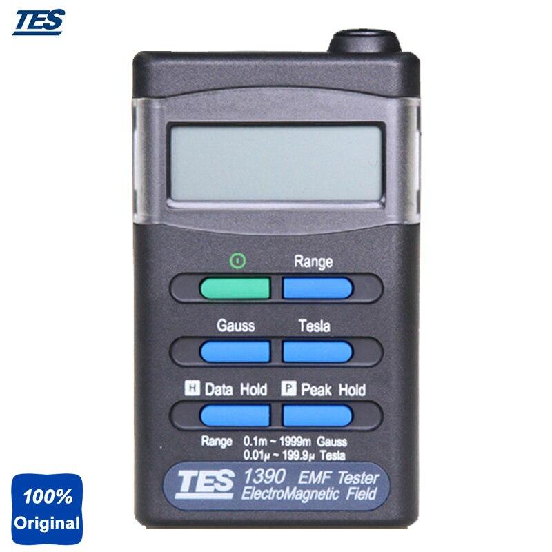 TES-1390 Hand-held Instrument EMF Tester ElectroSmog Tester ElectroMagnetic Field Tester tes 1390 electrosmog meter emf meter