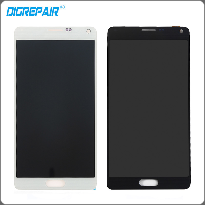 White Black Lcd Display Touch Screen Digitizer Full Assembly Replacement Parts For samsung galaxy note 4