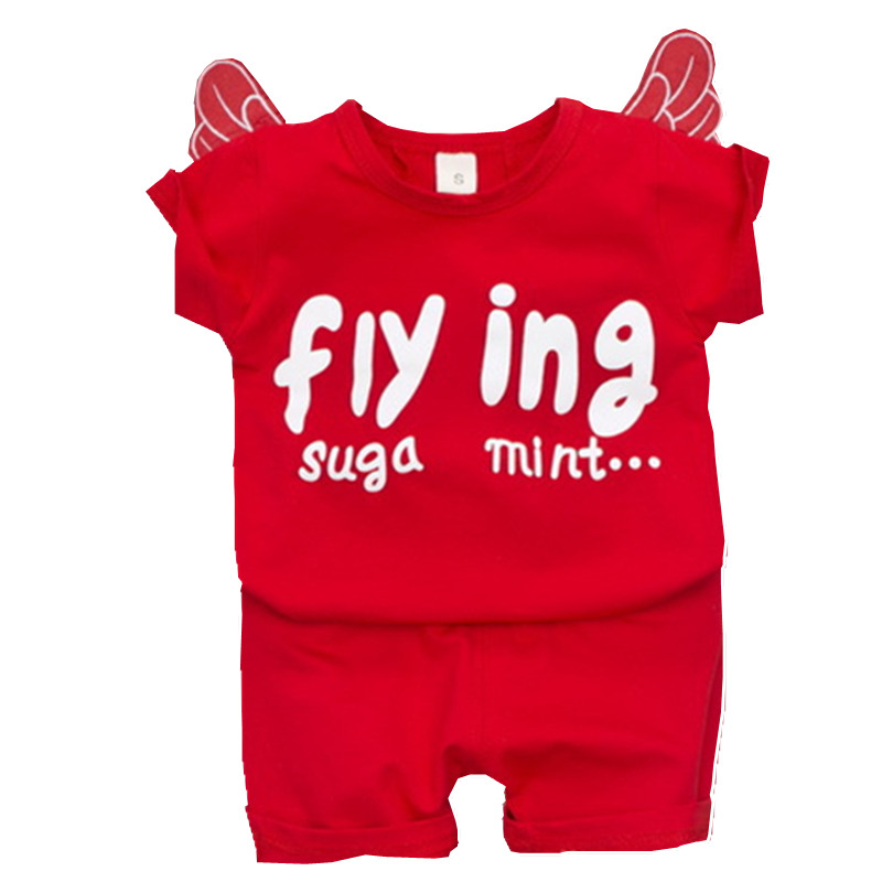 Boys Clothing Sets Summer Top Casual Children Clothes Fashion Party Birthday Toddler Sports Suits Letter Wing Child Kids Costume