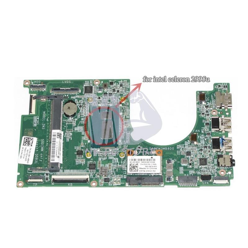 WVG6X 0WVG6X For Dell Inspiron 3000 11 3137 Laptop Motherboard 2995U 1.4 GHz CPU DDR3L DA0ZM3MB8D0 original new for dell inspiron n5110 m5110 palmrest upper case
