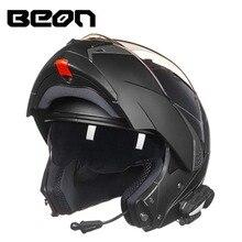 BEON мотоциклетный двойные линзы откидной bluetooth шлем анфас шлем мотокроссу езда шлемы