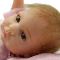 Full Silicone Reborn Baby Doll Girl 11 Inch Real Touch Newborn Babies Girl Wearing Pink Clothes Kids Birthday Xmas Gift