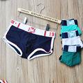 Venda quente 2016 nova marca de alta qualidade dos homens translúcidas underwear boxers listrado calcinha masculinos moda sexy senhor dos homens shorts de algodão