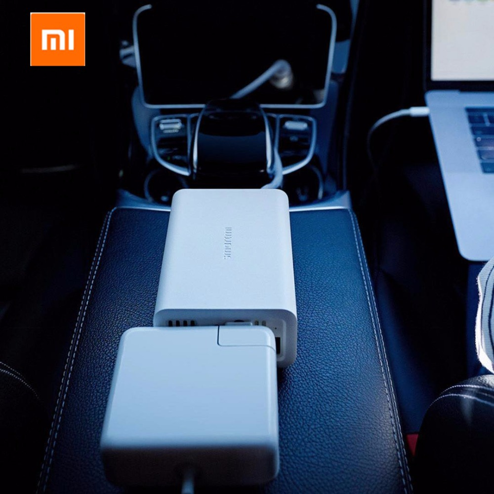Xiaomi Mijia SMARTMI 100W Portable Car Power Inverter Converter DC 12V to AC 220V with 5V/2.4A USB Ports Car Charger with Socket 100w car dc 12v to ac 110v power inverter w usb power port black