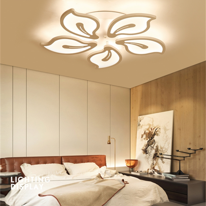 Nordic creative simple Living room lamps dining room lights home Acrylic led chandelier modern bedroom study lamps Chandeliers stainless steel ring led crystal chandelier living room dining room lamps bedroom lights modern art lights