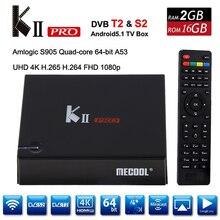 KII Pro DVB-T2 + DVB-S2 Android 5.1 TV Box 2G/16G Amlogic S905 Quad-core 4K*2K 2.4G&5G Dual Wifi BT4.0 KIIpro Smart Media Player