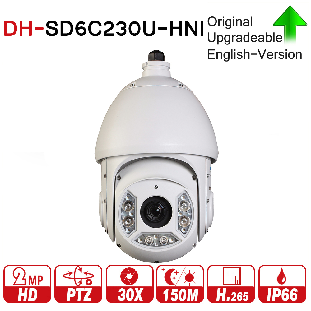 DH SD6C230U-HNI 2MP 30X Starlight IR PTZ Network IP Camera 4.5-135mm Optical Zoom 150m IR Starlight H.265 Auto-tracking IVS dahua 4mp ptz camera sd59430u hni h 265 30x optical zoom 4 5mm 135mm lens auto tracking and ivs support poe ir100m ip66 wdr
