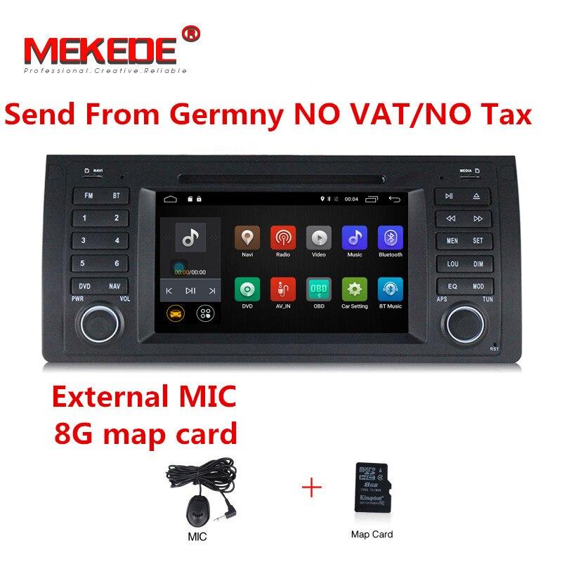 4g LAISSER Android7.1 Aucun tarif De Voiture lecteur multimédia pour bmw E39, X5, M5, e53 volant de soutien RDS GPS navigator radio DVD dvr