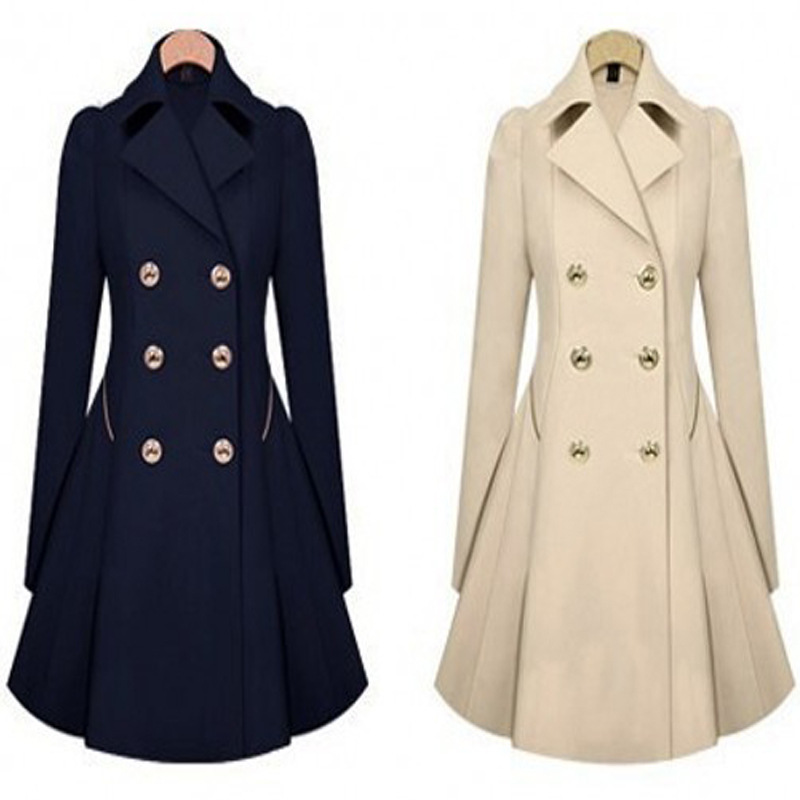 woman trench spring 2019 elegant a-line autumn double breasted office office long female trench plus size coats streetwear
