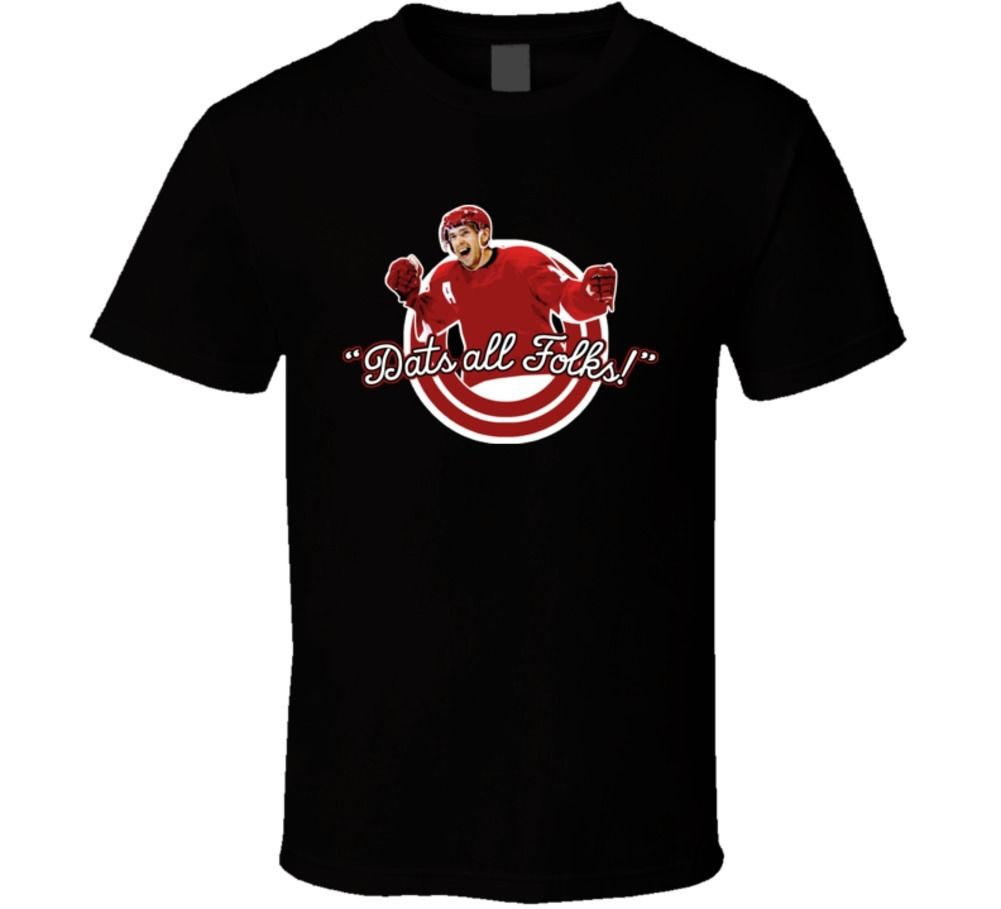 Dats All Folks Detroit Hockeytown Pavel Datysuk Playoff T Shirt