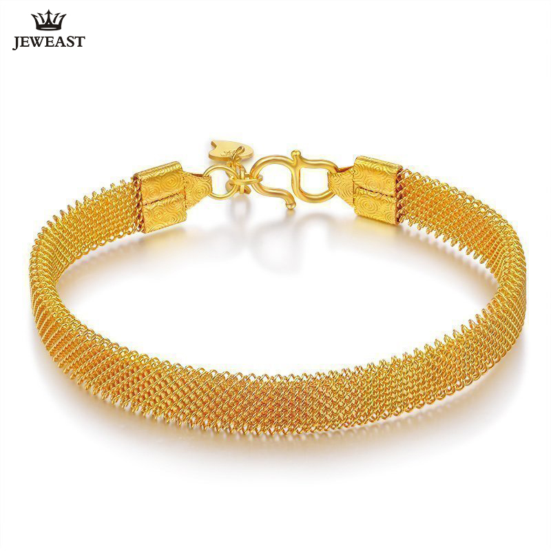 24K Pure Gold Bracelet Real 999 Solid Gold Bangle Elasticity No Deformation Trendy Classic Party Fine Jewelry Hot Sell New 2018 24k pure gold bracelet real 999 solid gold bangle elasticity no deformation trendy classic party fine jewelry hot sell new 2018