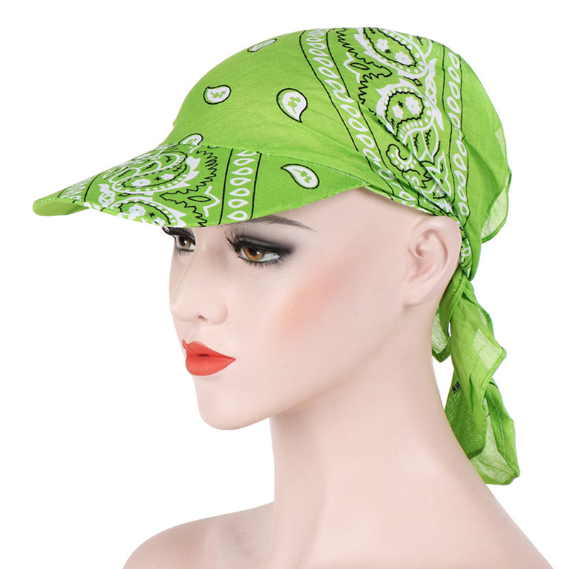 HTB1z0zrbBKw3KVjSZFOq6yrDVXaY - Packable Head Scarf Visor Hat With Wide Brim Sunhat Women Summer Beach Sun Hats UV Protection Female Printed Cap