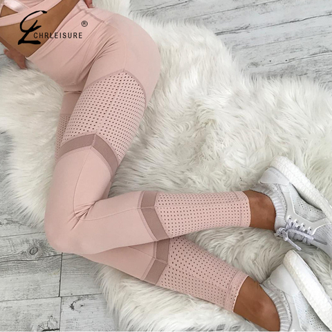 CHRLEISURE Sexy High Waia Mesh Leggings Women Fitness Push Up legging Trousers Feamle Workout Leggings Bodybuding Clothing Lahore