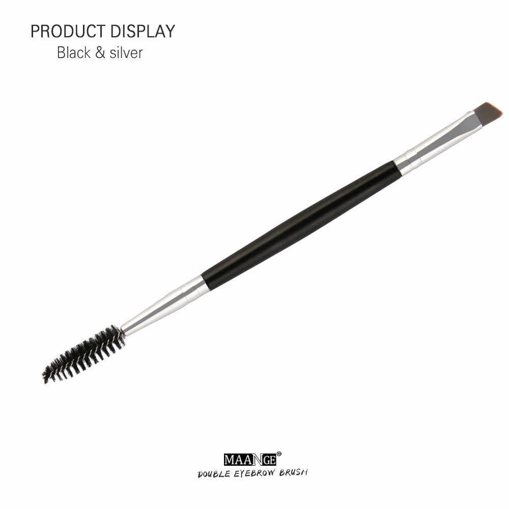 Набор кистей для бровей Профессиональный двухсторонний кисть для бровей Тушь для ресниц первой необходимости карандаш для бровей Угловой Инструмент для макияжа глаз # F