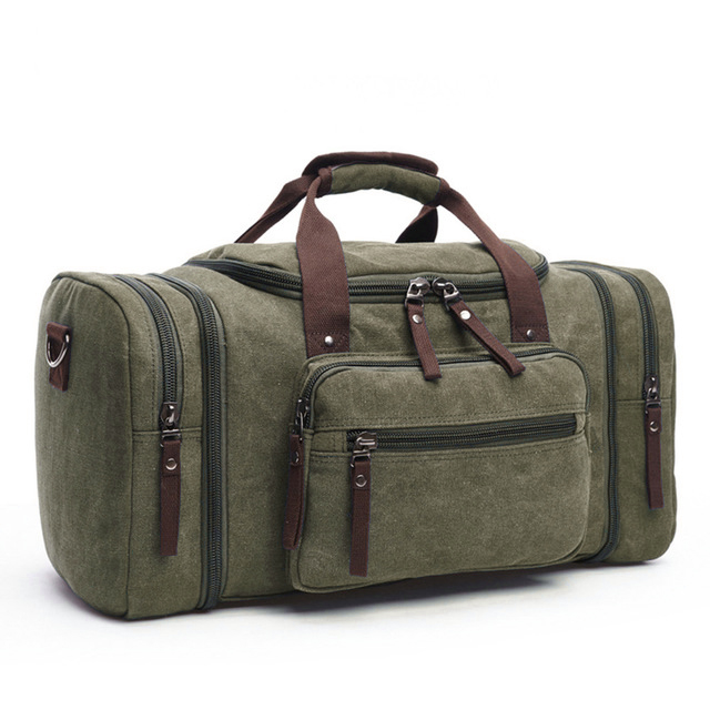 MARKROYAL Мужская парусиновая дорожная сумка мужской большой Ёмкость дорожные сумки ручной клади Сумка ночь дропшиппинг - Цвет: Green