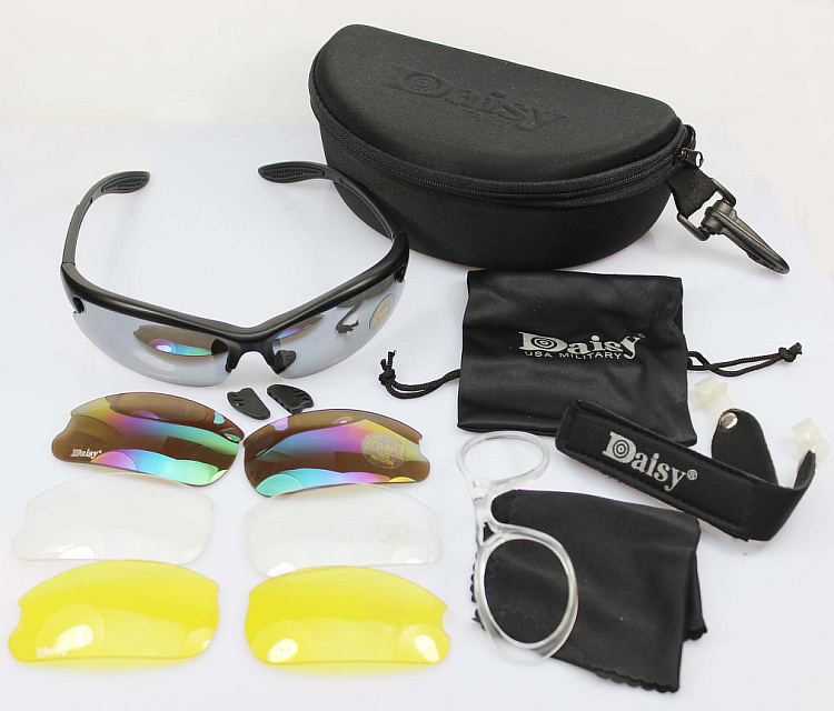 Daisy U S military tactical C3 protective glasses goggles impact resistant sand