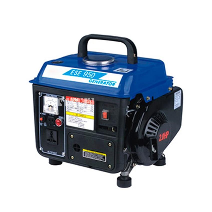 Low Noise ESE-950 Gasoline Generator Portable Household Miniature 2-stroke Single Phase Gasoline Generator 110V/220V 700W 63CC endress ese 506 hg gt duplex