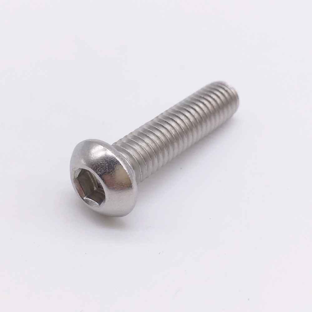 Screw M2.5 Hex Button Head Socket Cap Screws Metric Silver Stainless Steel 20pcs iso7380 m6 x 10 grade 10 9 alloy steel screw hexagon hex socket button head screws