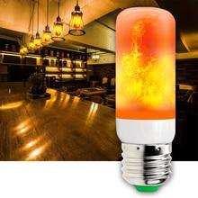 Dynamic Flame Lamp 42leds Christmas Lights Outdoor 110V Fire Effect E27 LED Candle Bulb AC 220V Led Night Decoration Maison