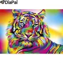 DIAPAI Diamond Painting 5D DIY 100% Full Square/Round Drill Animal color tiger Diamond Embroidery Cross Stitch 3D Decor A18561 diapai 100% full square round drill 5d diy diamond painting animal tiger diamond embroidery cross stitch 3d decor a18678