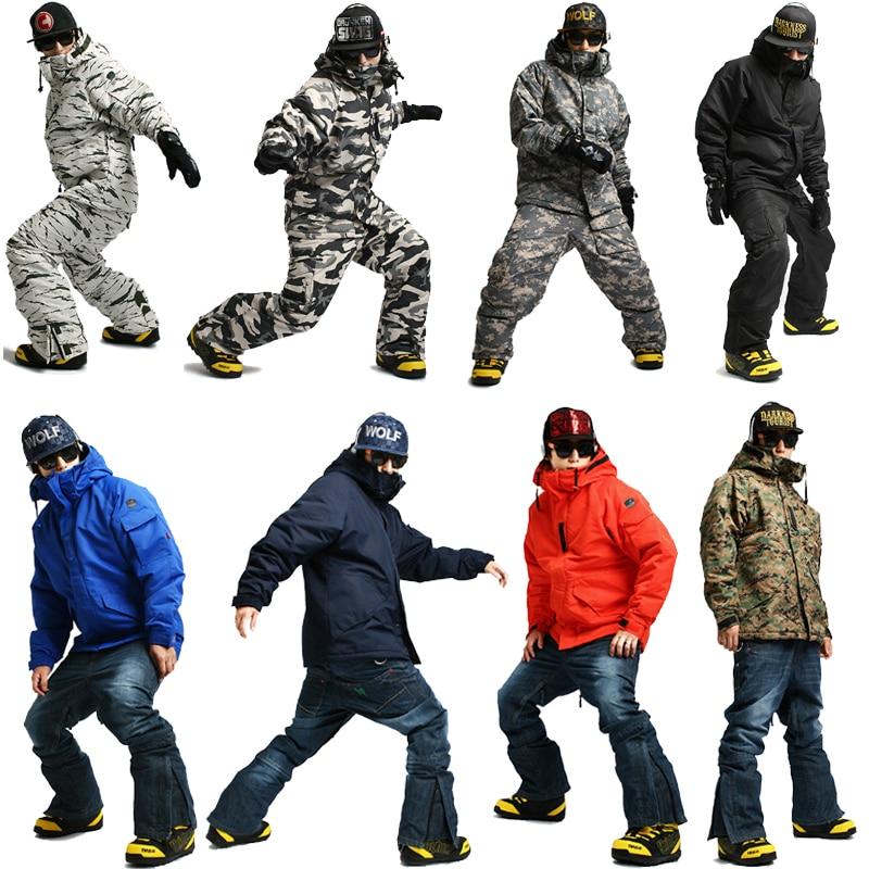 Hospitable New Premium Edition southplay Winter Season 10,000mm Waterproof Ski Snowboard Warming Sets Skillful Manufacture jacket + Pants