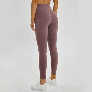 Image 3 - Shinbene classic 2.0 amanteigado macio nu sinta se atlético leggings de fitness feminino elástico agachamento à prova ginásio esporte collants yoga calças