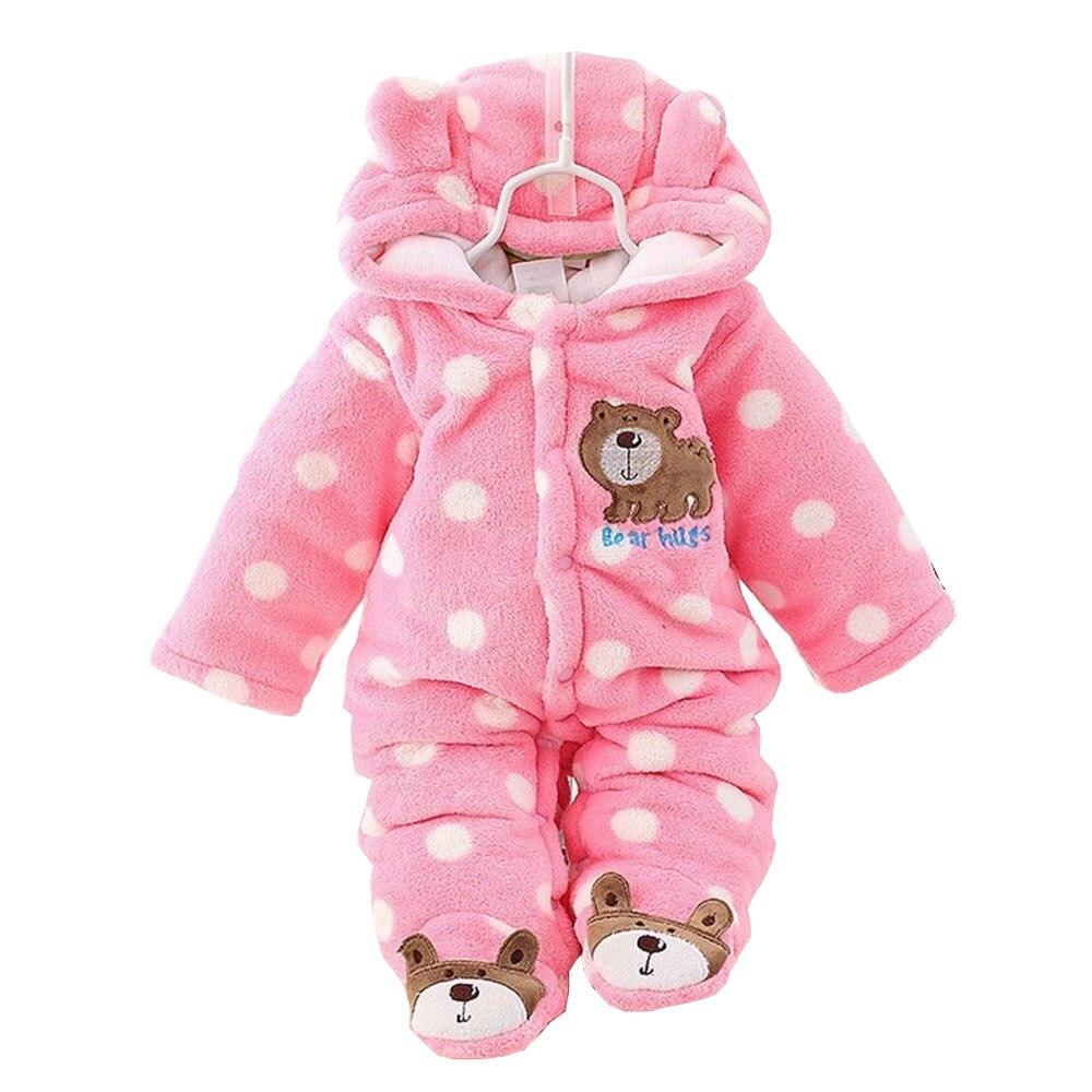 BibiCola baby girls Plus velvet thicker coat infant bodysuit newborn warm romper jumpsuits for girl toddler cotton warm clothes surplice v neckline velvet bodysuit