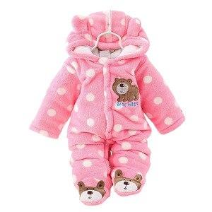 Image 5 - BibiCola dziewczynek Plus aksamitna zagęścić Romper niemowlę body noworodka ciepłe Romper kombinezony dla dziewczyna maluch bawełna ubrania